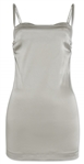 Victoria Beckham Owned Dolce & Gabbana Silver Silk-Blend Dress