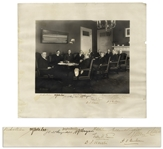Woodrow Wilson Cabinet Photo, Signed by All 11 Men Including Wilson -- From Early in Wilsons First Term -- Measures 17.5 x 15.75 -- With JSA COA