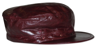 Alicia Keys Worn Leather Cap -- With a COA From Keys