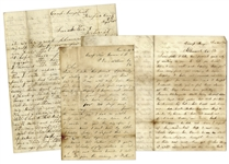 Confederate Letter Lot From 1st Virginia Cavalryman -- ...Lieutenant Zanondson gave him a pass and took one for himself... -- Plus a Copy of 1st Virginia Cavalry