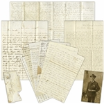 Colorful Letter Lot by 2nd Massachusetts Heavy Artillery Sergeant -- ...Capt. Shepherd has a bullet in his leg now and several more of our company have old scars to avenge...