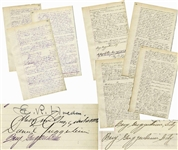 Incredibly Scarce & Important Guggenheim Mining Ledger Signed by Patriarch Meyer Guggeneheim, Successor Daniel Guggenheim & Thrice-Signed by Benjamin Guggenheim, Who Died on the Titanic