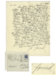 Sigmund Freud Autograph Letter Signed From 1937 Regarding His Family Tree -- ...I am finding a large number of respectable persons in there...