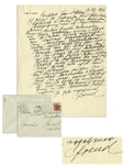 Sigmund Freud 1936 Autograph Letter Signed With Rare Content Regarding His Ancestry -- ...When I was a child, I still knew this grandfather, who lived in Vienna after having lost his fortune...