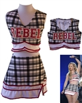 Iggy Azalea Signed and Worn Rebel Cheerleading Uniform -- Worn by Azalea During Her Performance at the 2014 Billboard Music Awards
