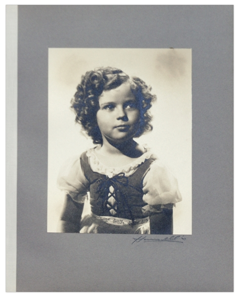 Shirley Temple Owned Large Portrait Hurrell Photographs From 1937 Film ''Heidi''