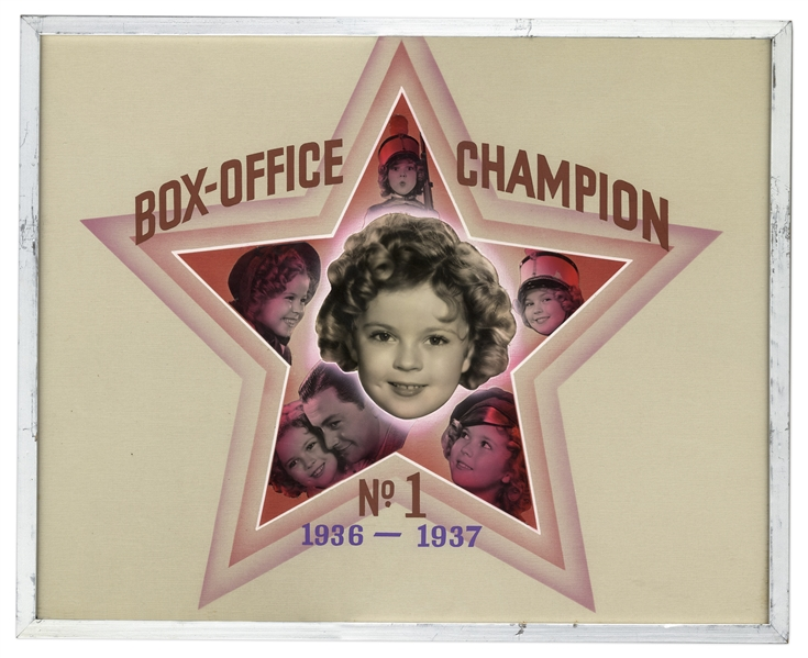 Lot of 4 ''Box-Office Champion No. 1'' Awards for Shirley Temple From 1934-1937 -- From the Important Poll of Movie Theater Owners That Would Make or Break Hollywood Careers