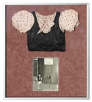 Shirley Temple Screen-Worn Blouse From 1933 Film The Kids Last Fight -- Framed Presentation