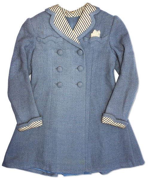 Shirley Temple Screen-Worn Coat From 1938 Film ''Just Around the Corner''