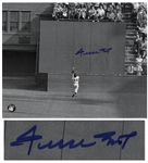 Famous World Series Photo From 1954, The Catch Signed by Willie Mays -- 10 x 8 Photo in Near Fine Condition -- With Say Hey Authentication
