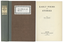 W.B. Yeats Signed Limited Edition of Early Poems and Stories