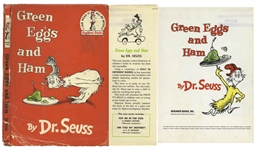 First edition of Dr. Seuss Green Eggs and Ham in Unclipped Dust Jacket
