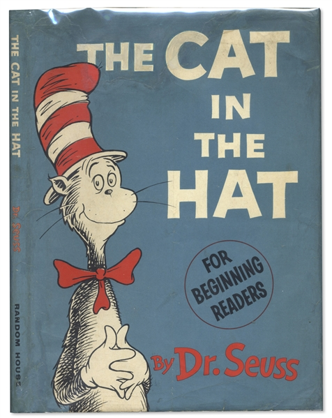 Dr. Seuss First Printing of ''The Cat in the Hat'' -- In First Printing Dust Jacket