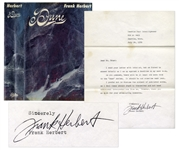 First Edition, First Printing of Frank Herberts Dune -- With Typed Letter Signed by Herbert Regarding Dune Sequels
