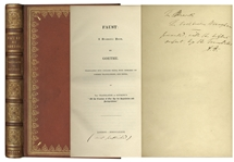 Scarce Copy of Faust Privately Printed & Inscribed by Its Translator Abraham Hayward -- Presentation Copy With No Auction Records