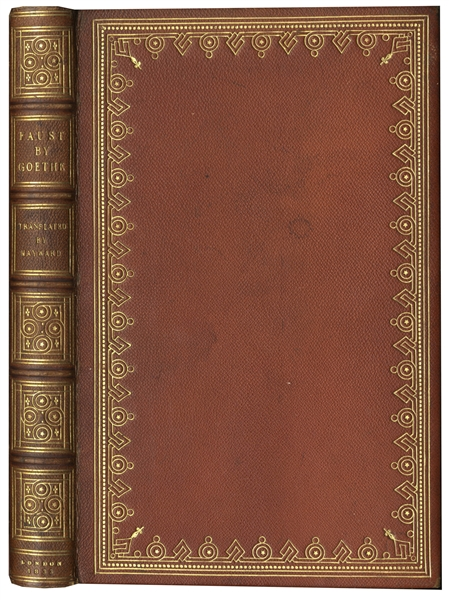 Scarce Copy of ''Faust'' Privately Printed & Inscribed by Its Translator Abraham Hayward -- Presentation Copy With No Auction Records