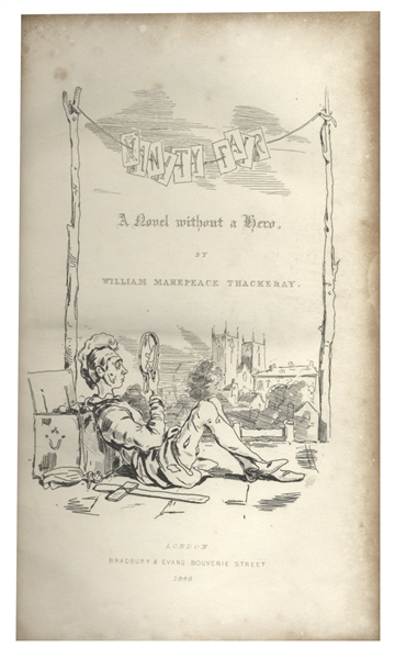 First Edition of ''Vanity Fair'' by William Thackeray -- Near Fine