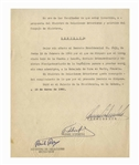 Fidel Castro Document Signed as Prime Minister From 1960 -- Cuba Appoints an Envoy to Its Embassy in Paris
