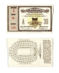 1932 Summer Olympics Ticket to the Opening Ceremony