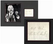 Martin Luther King Jr. Signature -- With University Archives COA