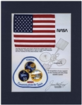 American Flag & NASA Patch Flown on Space Shuttle Challenger