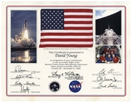 American Flag Flown on Space Shuttle Columbia