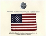 American Flag Flown on Space Shuttle Atlantis -- NASAs Final Space Shuttle Flight in 2011