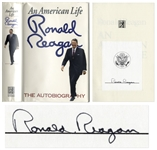 Ronald Reagan Signed First Edition of His Autobiography An American Life