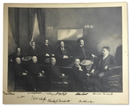 "Theodore Roosevelt Signed Cabinet Photo Measuring 23"" x 19"" -- Roosevelt Signs the Photo, Along With Nine Members of His Cabinet, Including William Taft -- With University Archives COA"