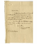 James Fenimore Cooper Autograph Letter Signed