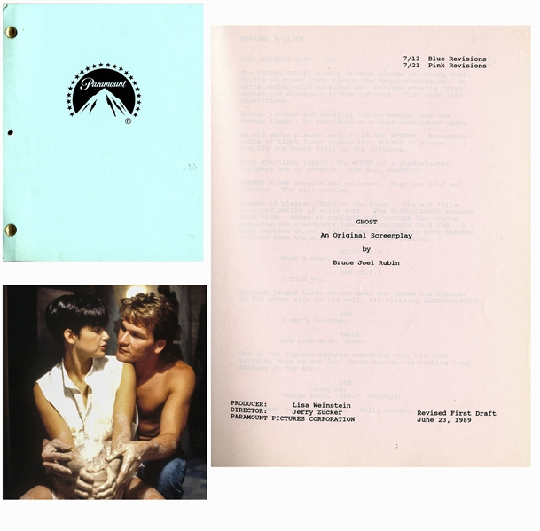 Patrick Swayze's Personal Copy of the Script for ''Ghost'' -- With COA From Lisa Niemi Swayze