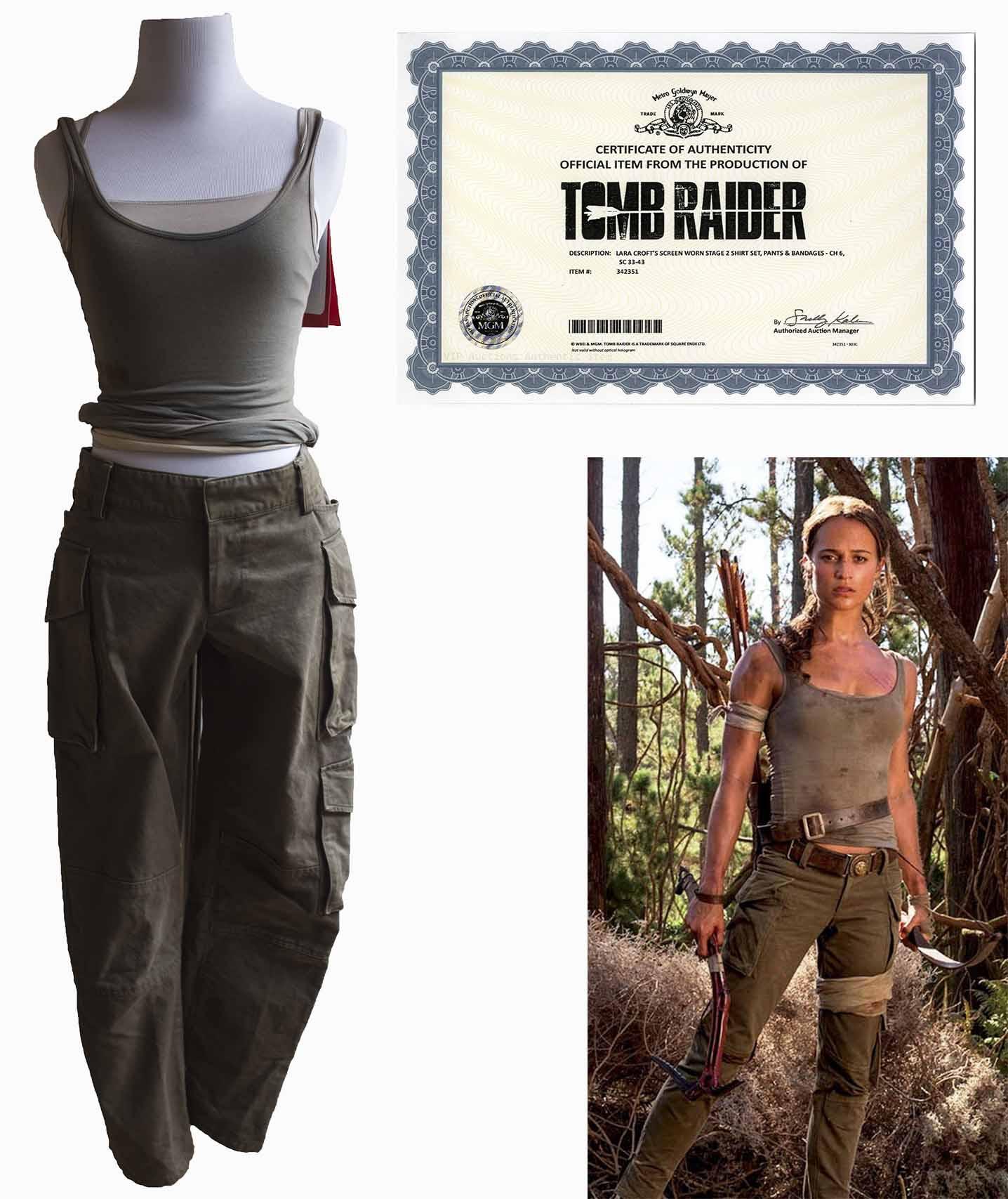 Lot Detail Alicia Vikander Screen Worn Costume As Lara Croft In