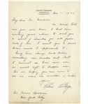 Calvin Coolidge Autograph Letter Signed to Thomas Cochran Who Helped Coolidge Gain National Prominence in 1920