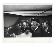 Cecil W. Stoughtons Personal, Unpublished Photo of LBJs Inauguration Aboard Air Force One, With Jackie Kennedy Being Comforted