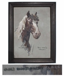 James Montgomery Flagg Equine Painting -- Measures 21 x 30