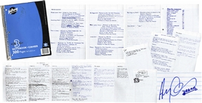 Drakes Personal, Signed Notebook for His First Mixtape, Room For Improvement -- Includes 80 Handwritten Pages of Lyrics, His My First Album Todo List, Motivational Quotes, Signatures & More