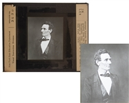 Abraham Lincoln Magic Lantern Slide -- The so essentially Lincolnian Portrait
