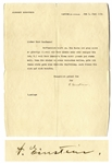 Albert Einstein Letter Signed to His Friend, Composer Walter Kaufmann -- ...I shall always be happy to give you another similar recommendation...