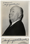 Alfred Hitchcock Signed 8 x 10 Photo, Peering Sideways Into the Camera