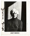 Andy Warhol Signed 8 x 10 Photo