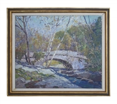 Anthony Thieme Painting Entitled Bridge in Autumn