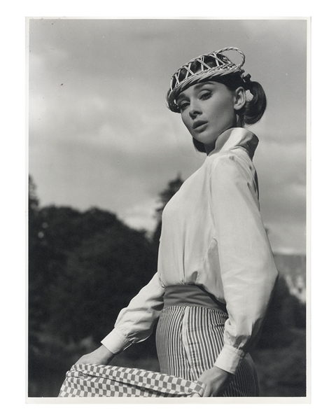 Audrey Hepburn's Personally Owned Photo From ''Love in the Afternoon'' -- Measures 11.5'' x 15.5''