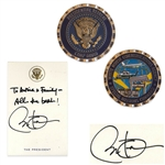 Barack Obama Autograph Note Signed as President -- Plus Medallion and White House Certificate