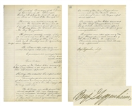 Titanic Victim, Benjamin Guggenheim Signed Page From the Familys Mining Ledger -- Important Milestone in the Companys History, ...we will commence smelting of rations within the next 15 days...