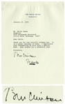 Bill Clinton Letter Signed as President -- Bill Thanks an Arkansas Friend, ...It is a great reminder of home...