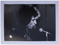 Large Photo of Bob Dylan in Concert From 1966  -- Taken by Noted Rock Photographer Jan Persson