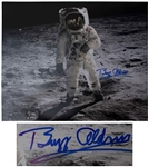 Buzz Aldrin Fantastic Signed 20 x 16 Photo of the First Lunar Landing -- With Novaspace COA
