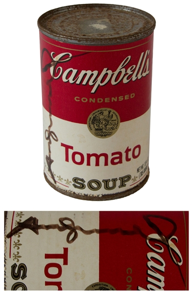 Andy Warhol Signed Iconic Campbell's Soup Label