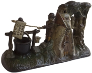 Boy Scout Cast Iron Mechanical Bank -- Made in Concert With the Launch of Boy Scouts of America in 1910