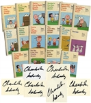 Set of 8 Peanuts Books, 6 Signed by Charles Schulz